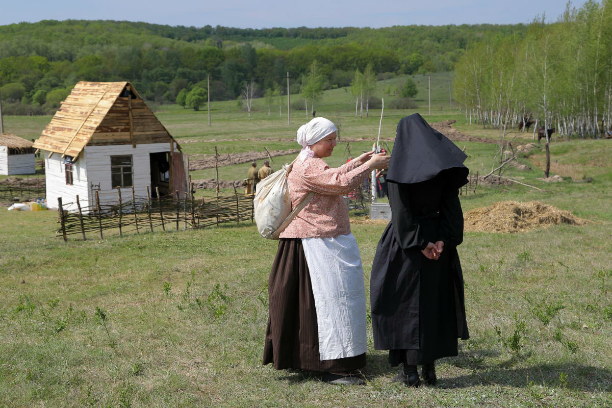 «Враги сожгли родную хату». Под Белгородом воссоздали сражение столетней давности, фото-4