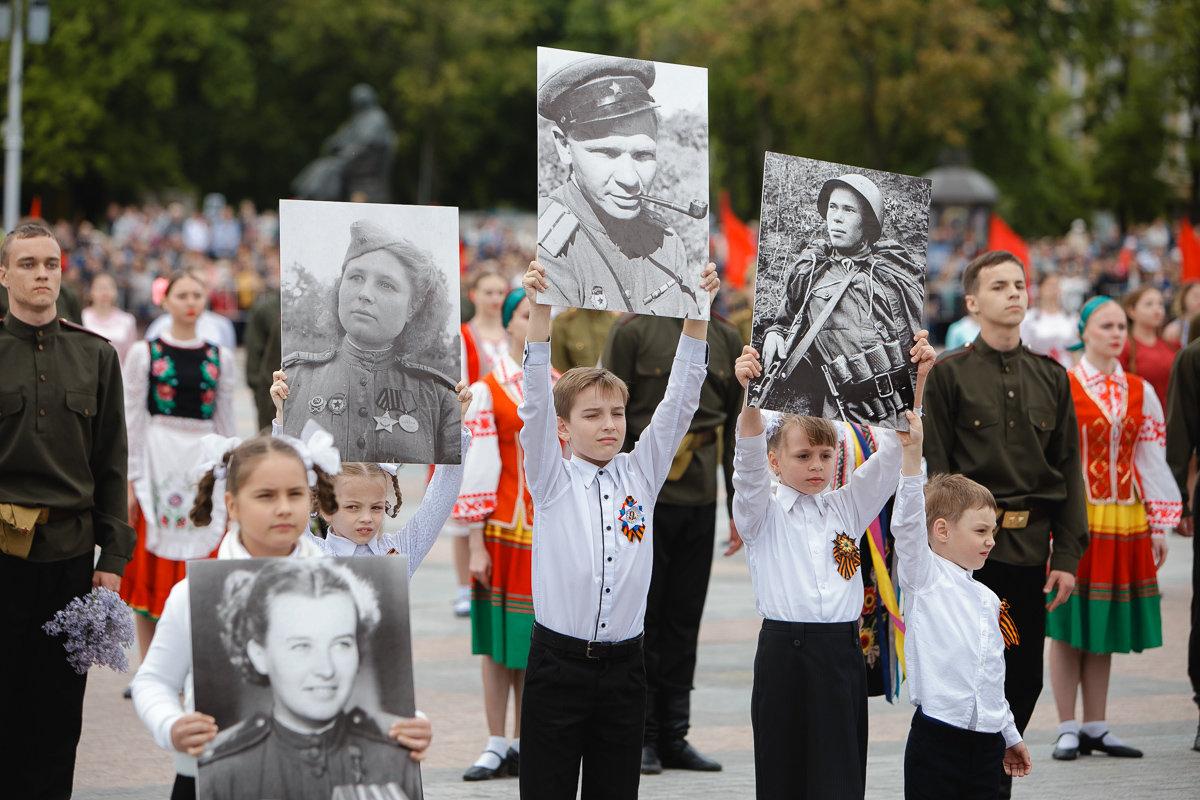 Десятки тысяч белгородцев поучаствовали в шествии «Бессмертного полка», фото-10, Фото: пресс-центр губернатора и правительства Белгородской области