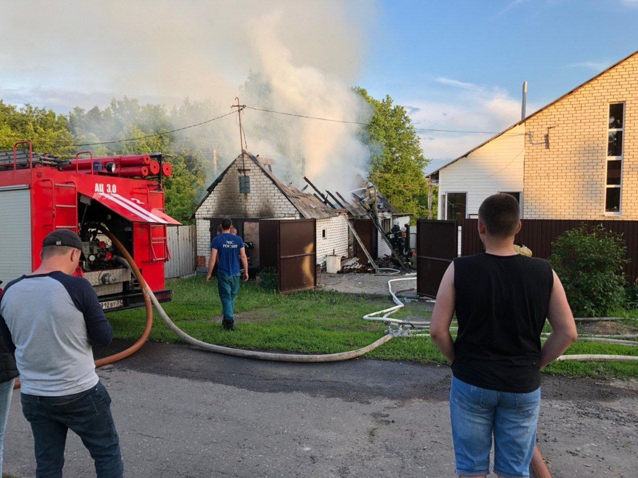 Под Белгородом сгорела баня, фото-2