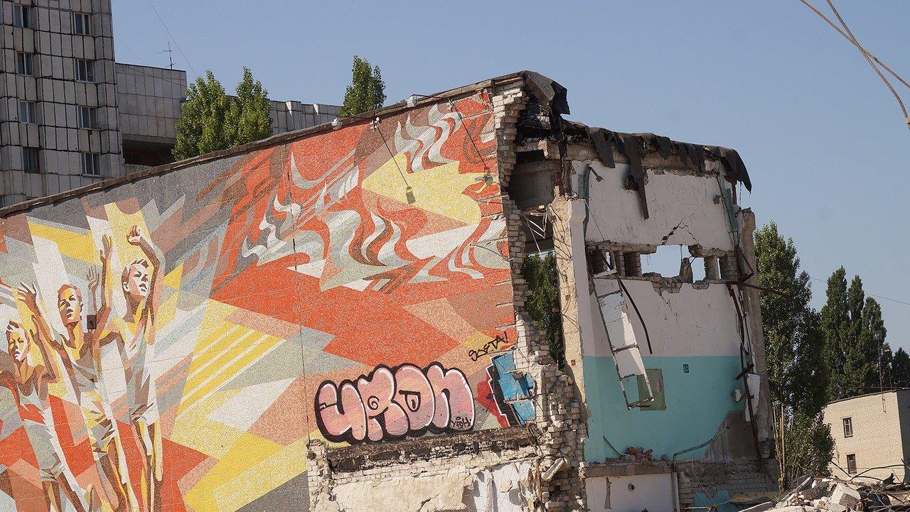 «Это образец советского монументального искусства». Мозаику на стене разрушенной белгородской спортшколы пытаются сохранить, фото-3