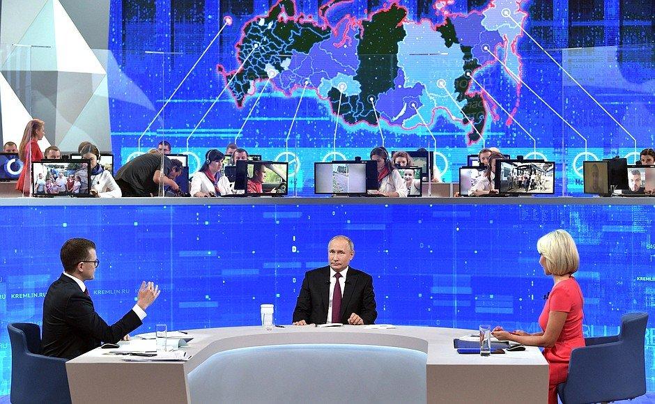 «Ростелеком»: Кибератаки во время «Прямой линии» с Путиным успешно отразили, фото-1