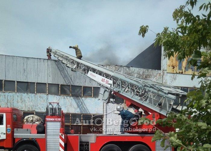 В Белгороде потушили пожар на складе, фото-1