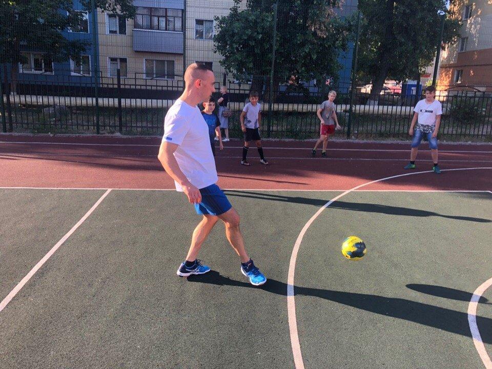 Сергей Фуглаев принял участие в тренировке детей по программе «Дворовый тренер» , фото-6