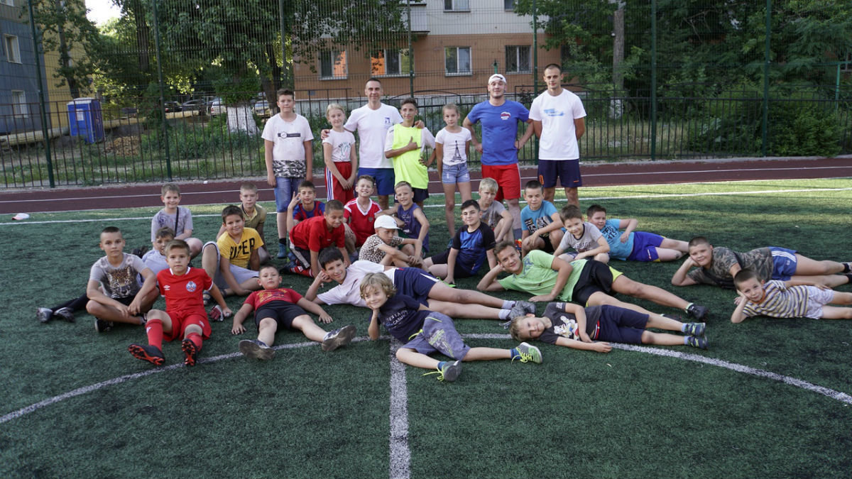 Сергей Фуглаев принял участие в тренировке детей по программе «Дворовый тренер» , фото-10