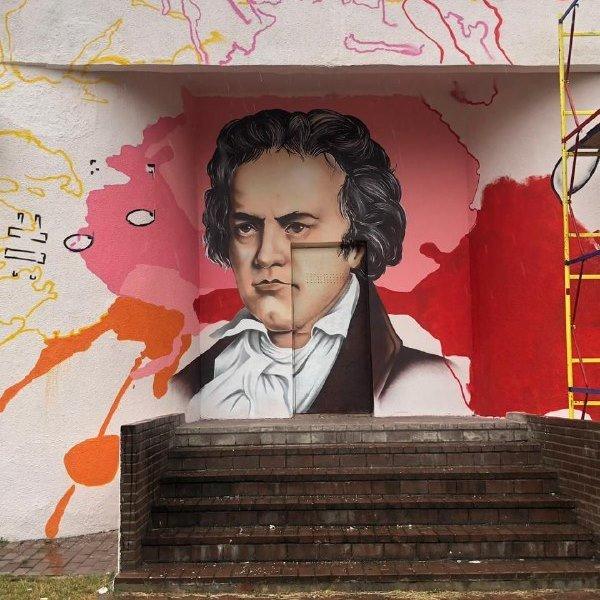 Музыка для книги. В Старом Осколе художники расписали стены библиотеки и музыкальной школы, фото-3