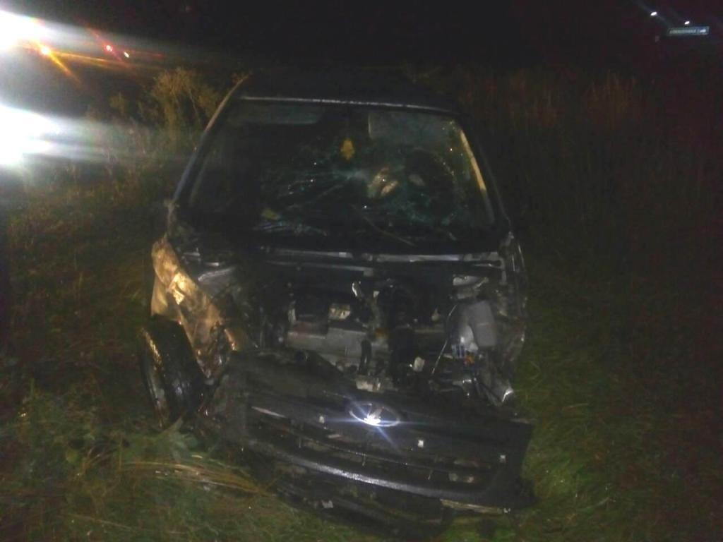 В Алексеевке ночью перевернулся водитель «Лады Гранты», фото-1