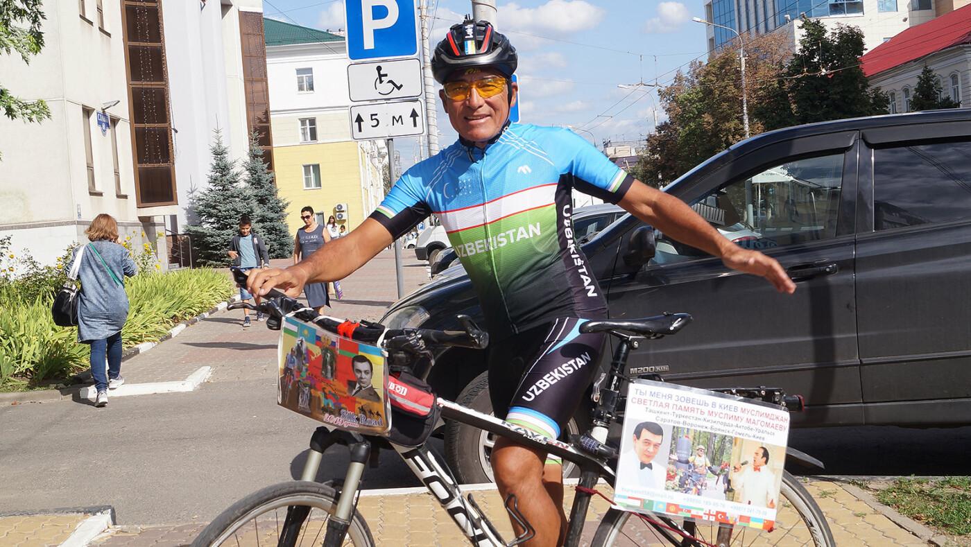 Оперный певец на велосипеде. Зачем Хурсанд Шеров едет в Киев, фото-1