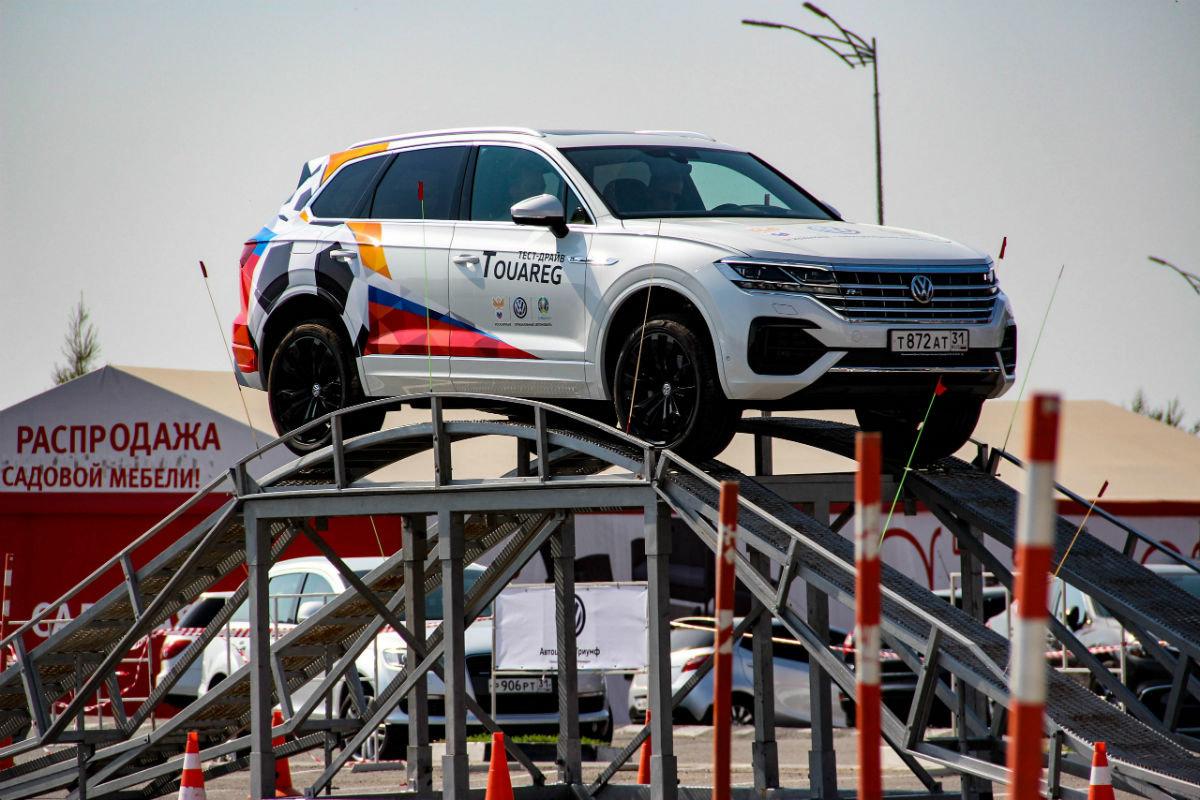 Белгородцы ощутили преимущества внедорожников Volkswagen, не выезжая из города, фото-2