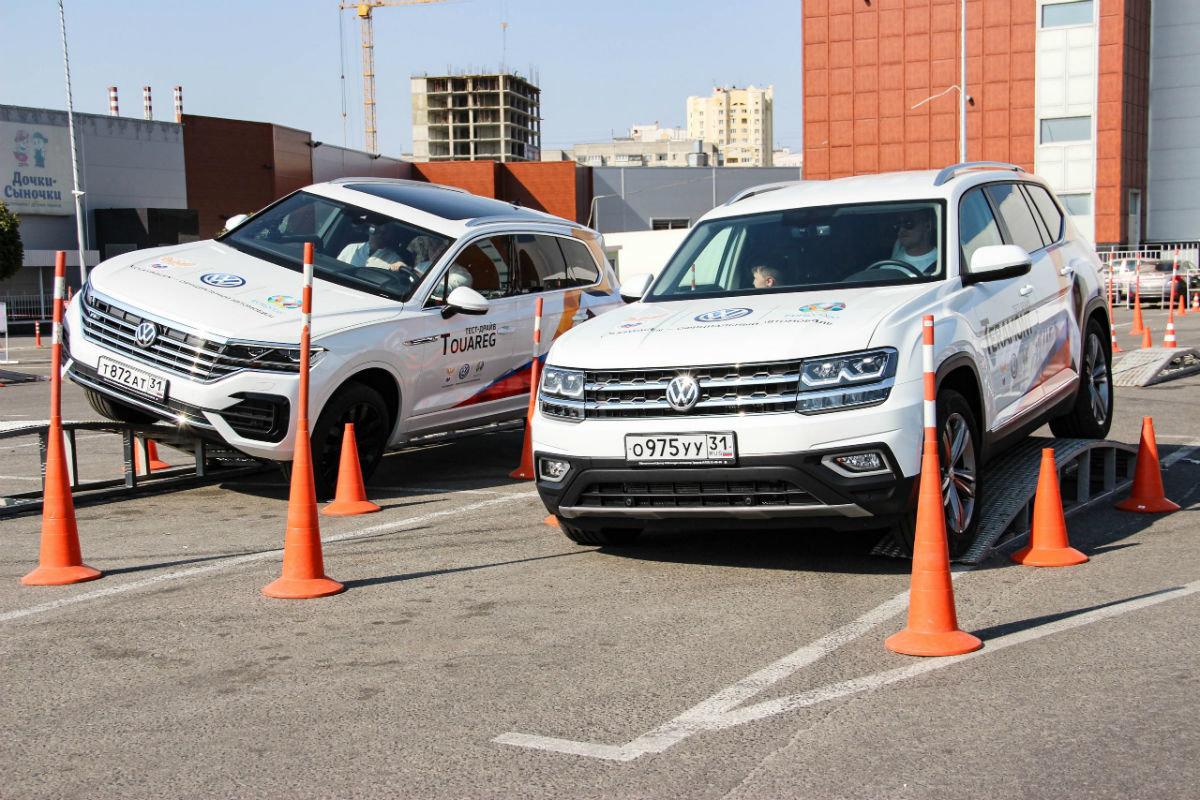 Белгородцы ощутили преимущества внедорожников Volkswagen, не выезжая из города, фото-1