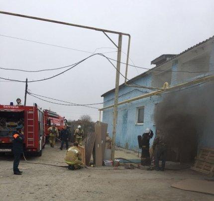 Под Белгородом сгорел цех по производству мебели, фото-1