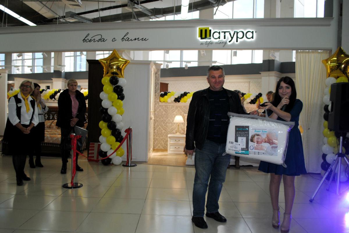 Салон мебели «Шатура» в торговом центре «Мебельный город» наградил первых покупателей, фото-12