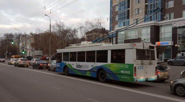 По улицам Белгорода ездит экскурсионный троллейбус , фото-1