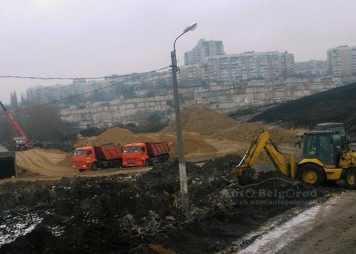 В Белгороде продолжается строительство дороги между «Спутником» и Харгорой, фото-1