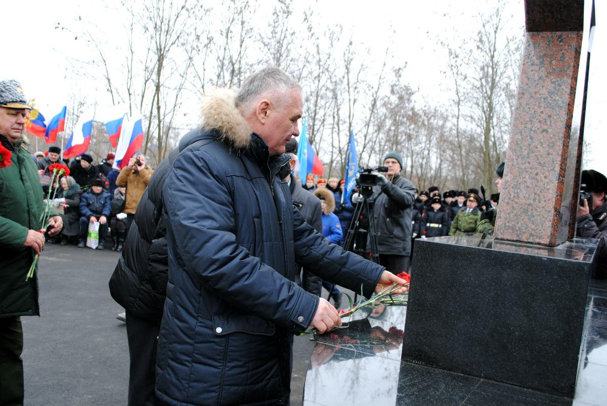 В Парке воинской славы Нового Оскола открылся памятник землякам, вернувшимся с войны, фото-8