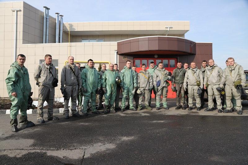 Белгородские полицейские надели костюмы химзащиты, фото-1, Фото: пресс-служба управления МВД по Белгородской области