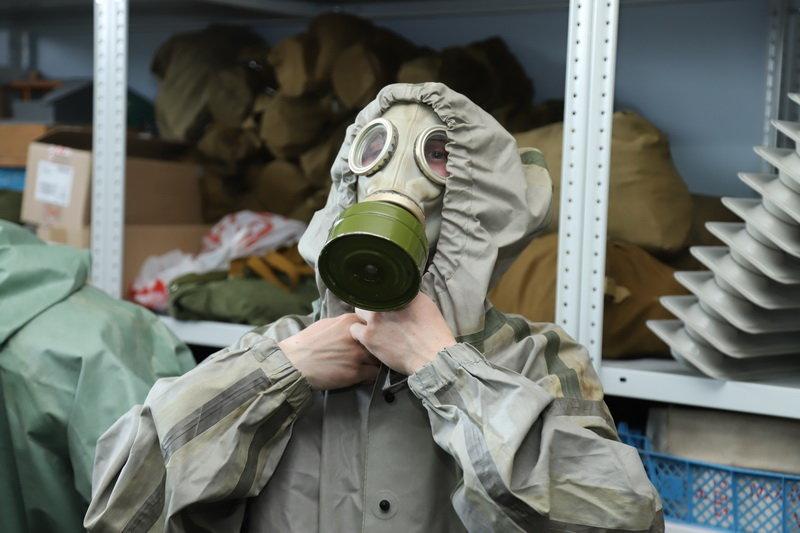 Белгородские полицейские надели костюмы химзащиты, фото-4, Фото: пресс-служба управления МВД по Белгородской области