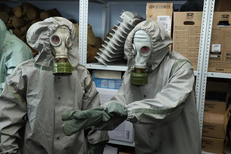 Белгородские полицейские надели костюмы химзащиты, фото-5, Фото: пресс-служба управления МВД по Белгородской области
