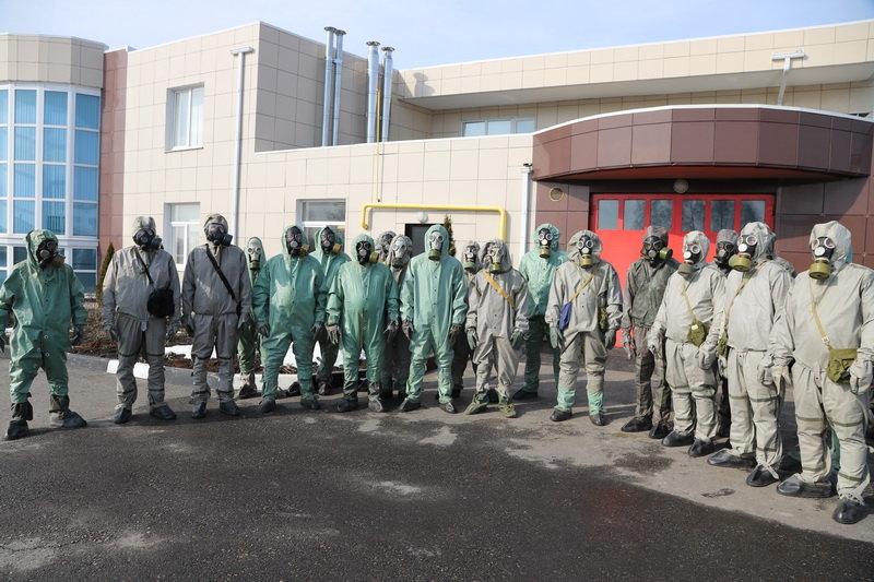 Белгородские полицейские надели костюмы химзащиты, фото-8, Фото: пресс-служба управления МВД по Белгородской области