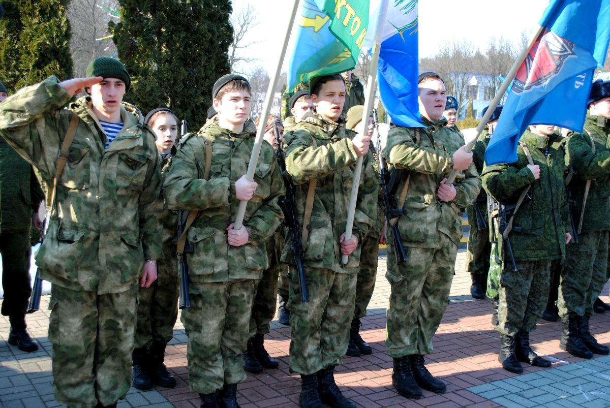 Марш-броском почтили память российских десантников будущие защитники Отечества, фото-2