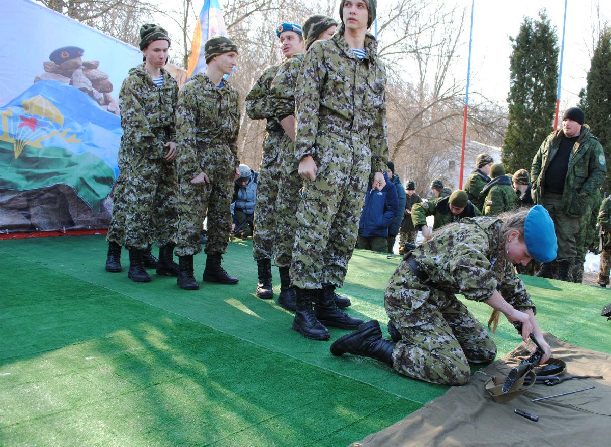 Марш-броском почтили память российских десантников будущие защитники Отечества, фото-5