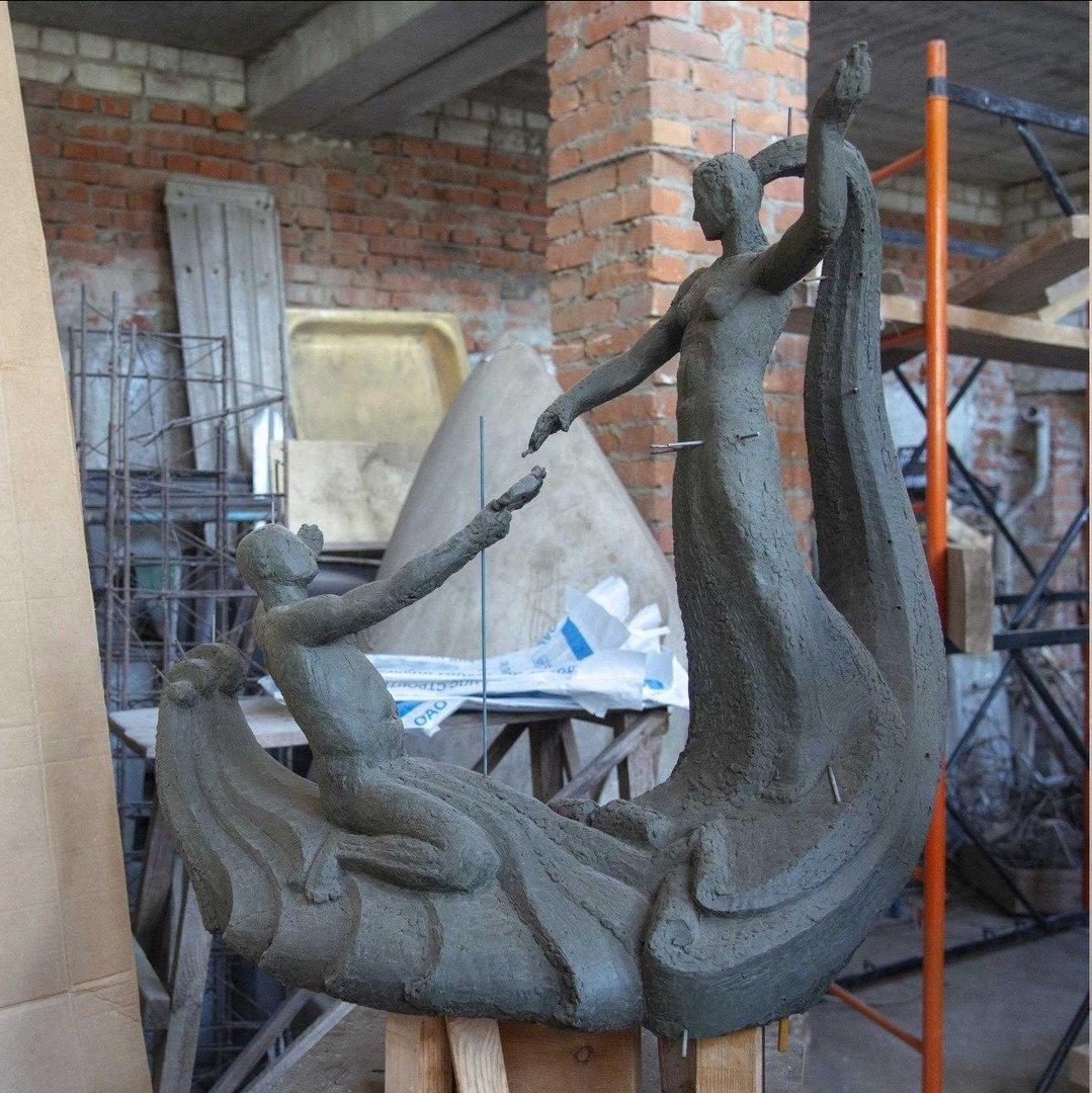 В Белгороде восстанавливают скульптуру «Встреча Северского Донца и Везелицы» , фото-1