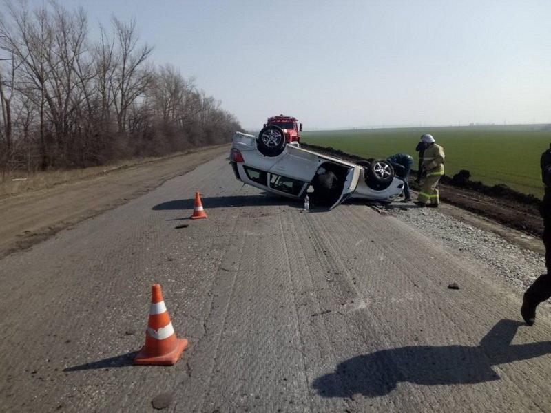 В Губкине перевернулся пьяный водитель «Опеля», фото-1