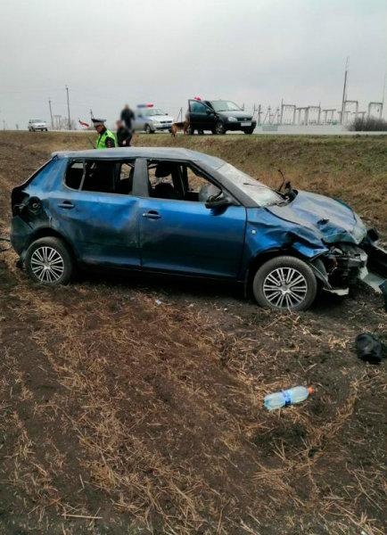 На белгородской трассе погиб водитель перевернувшейся «Шкоды», фото-1