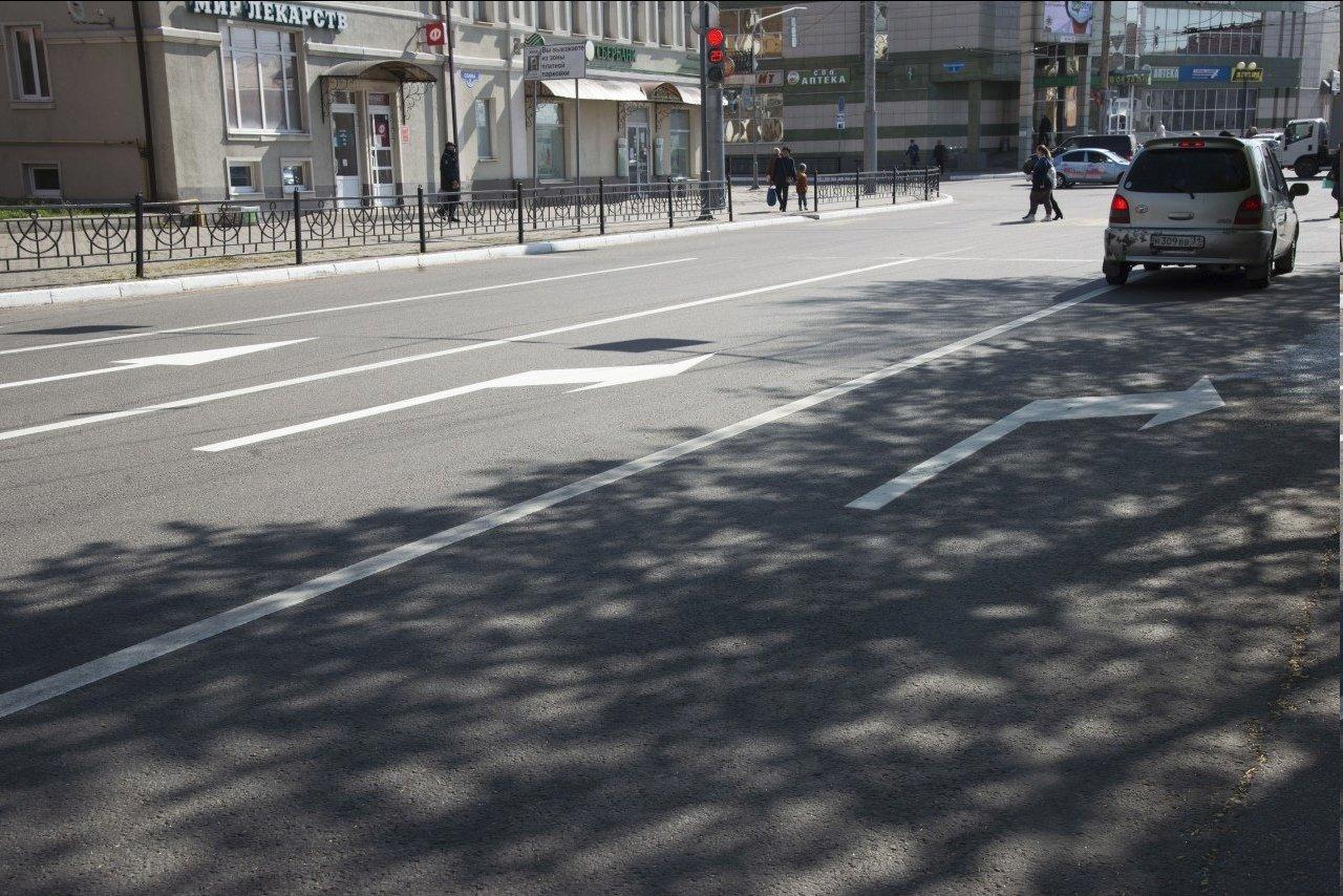 В центре Белгорода обновляется разметка на дорогах, фото-2
