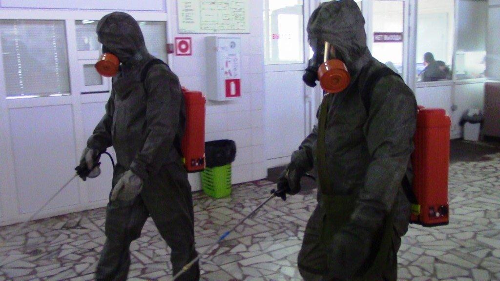 В Белгороде продезинфицировали автовокзал, фото-3