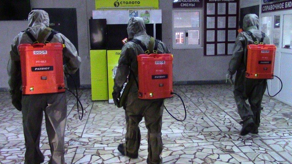 В Белгороде продезинфицировали автовокзал, фото-4