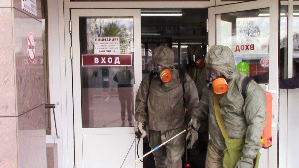 В Белгороде продезинфицировали автовокзал, фото-5