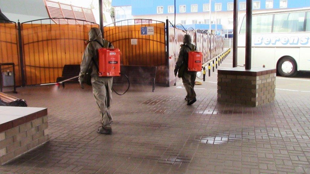 В Белгороде продезинфицировали автовокзал, фото-8
