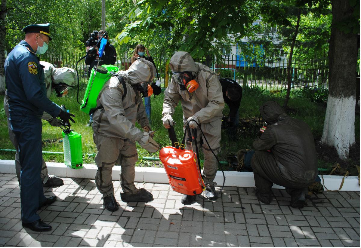 Белгородские спасатели дезинфицируют детские сады, фото-1