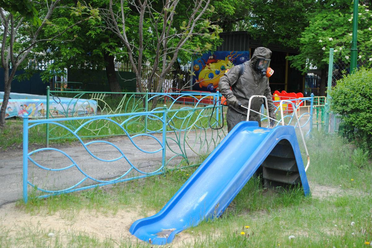 Белгородские спасатели дезинфицируют детские сады, фото-2