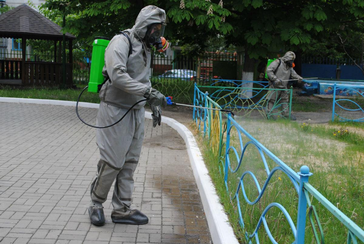 Белгородские спасатели дезинфицируют детские сады, фото-3