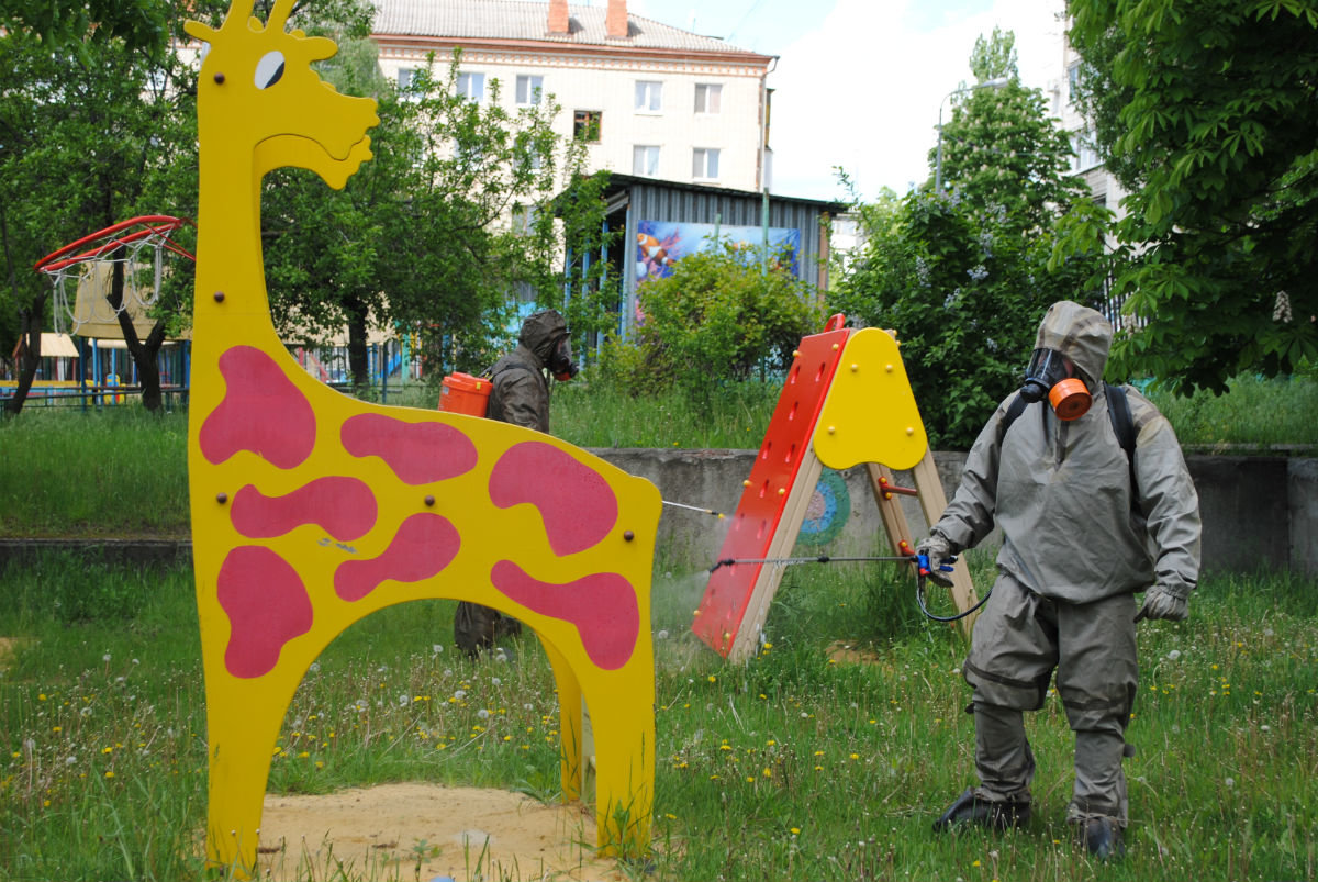 Белгородские спасатели дезинфицируют детские сады, фото-4