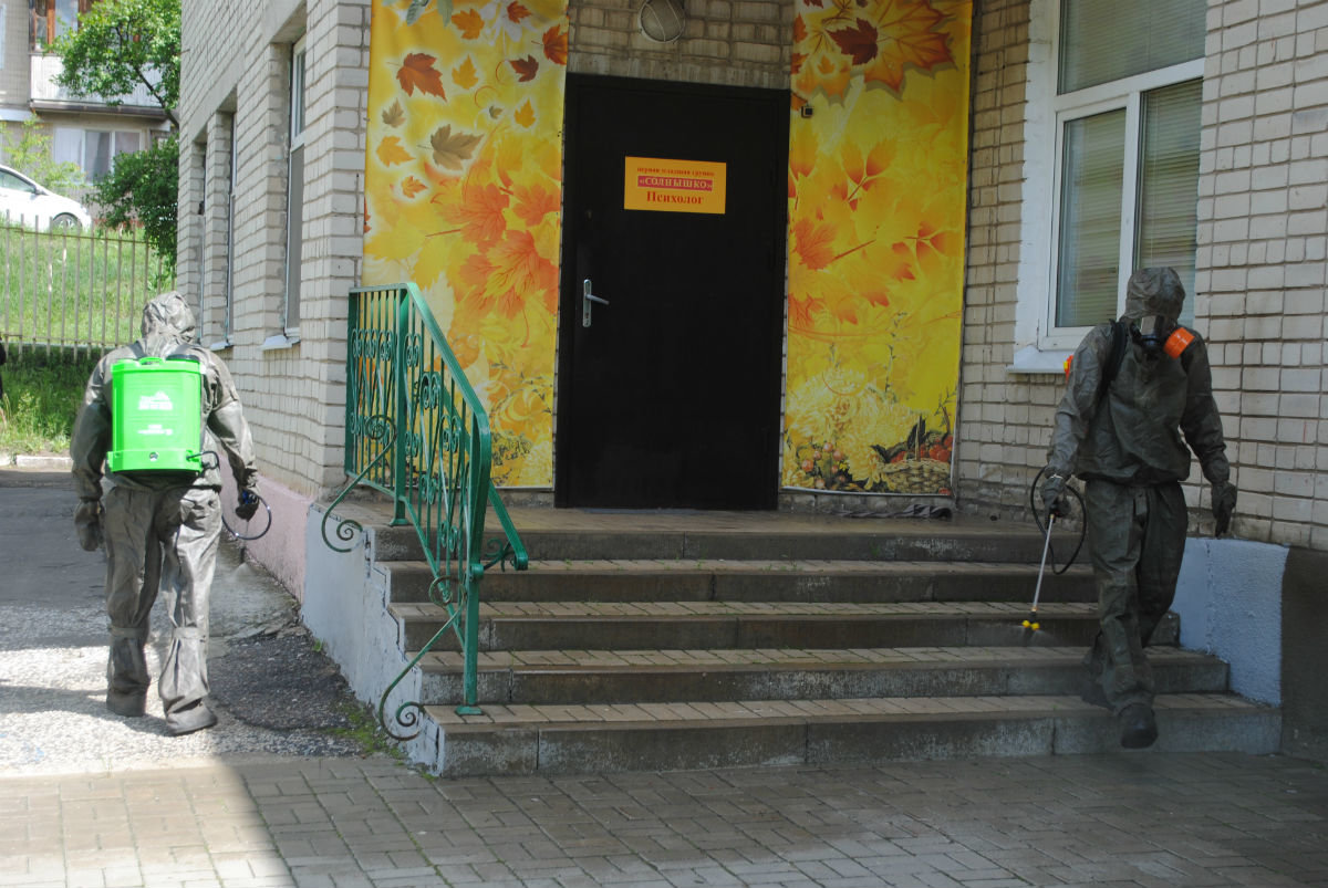Белгородские спасатели дезинфицируют детские сады, фото-5