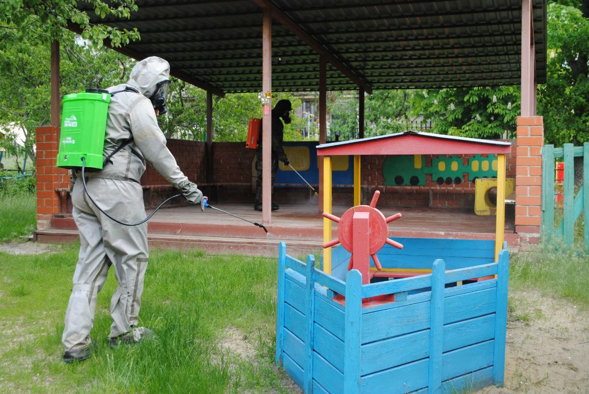 Белгородские спасатели дезинфицируют детские сады, фото-6