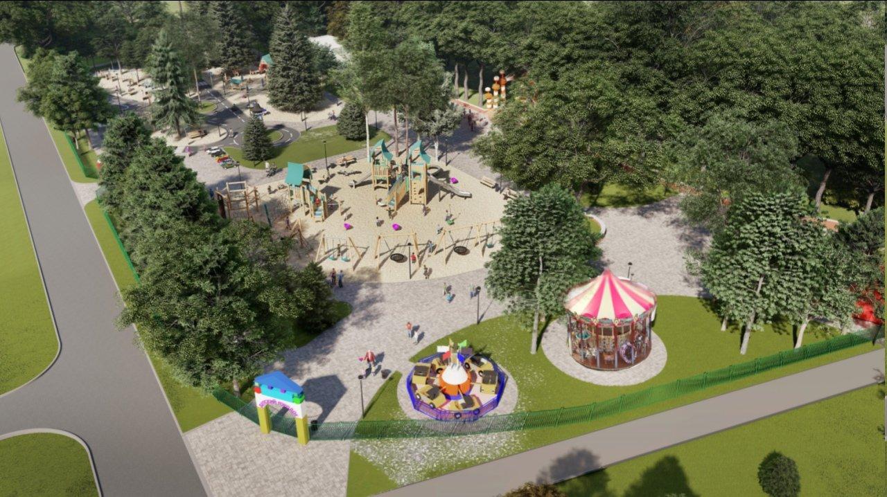 В Центральном парке Белгорода появится новая детская площадка, фото-4