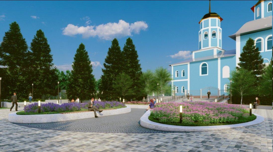 В Белгороде реконструируют сквер возле Смоленского собора , фото-2