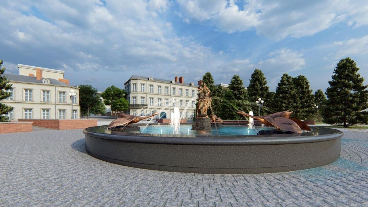 На Свято-Троицком бульваре в Белгороде готовят площадку под новый фонтан, фото-1