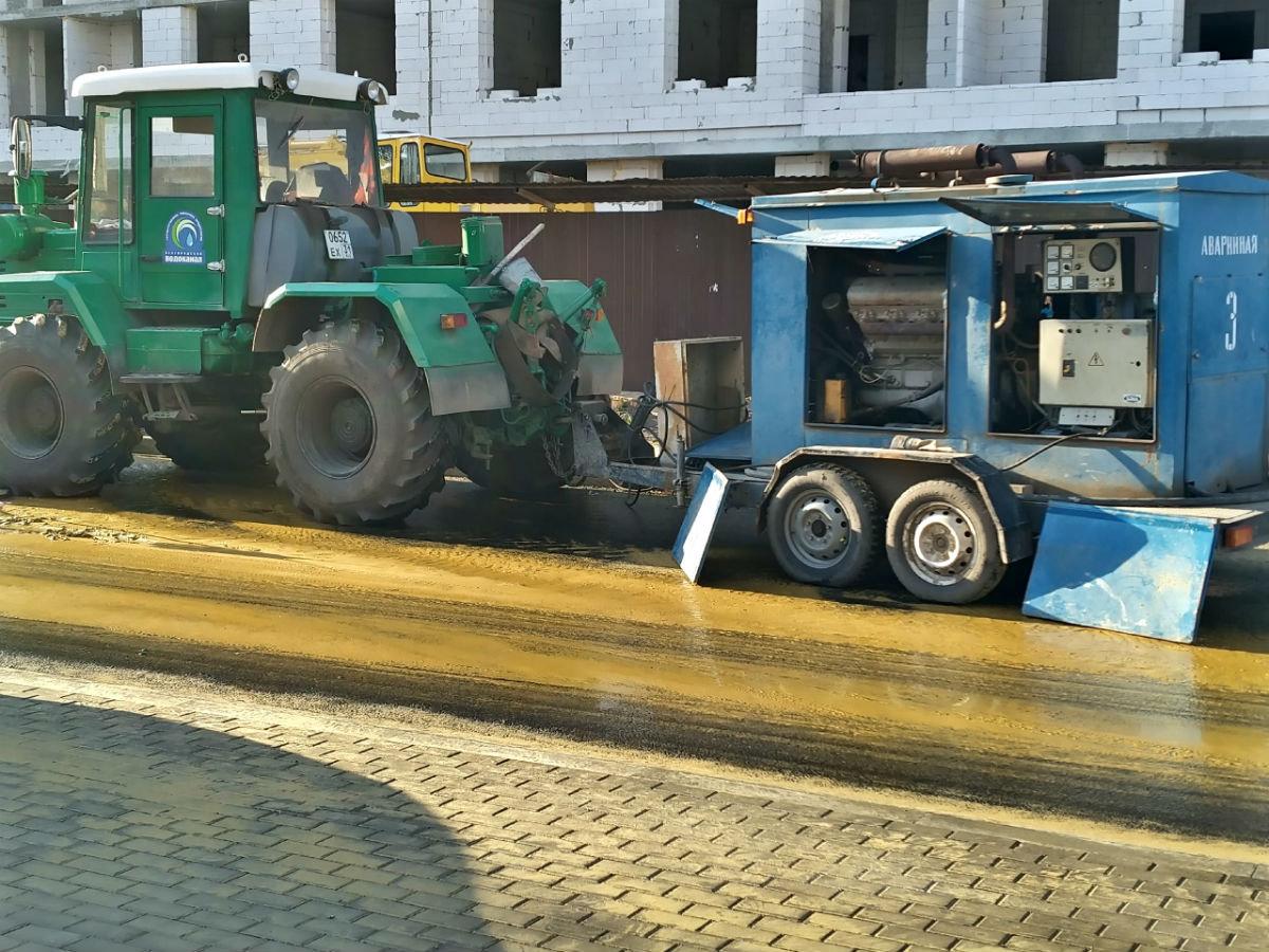 В центре Белгорода повреждён трубопровод холодной воды, фото-1