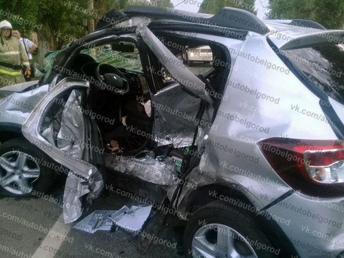 В Белгороде столкнулись Land Cruiser и Renault , фото-2