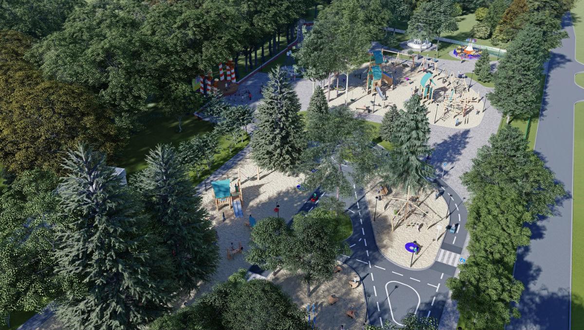 В августе в Центральном парке Белгорода откроется «Октябрь», скейт-парк и детский городок, фото-1