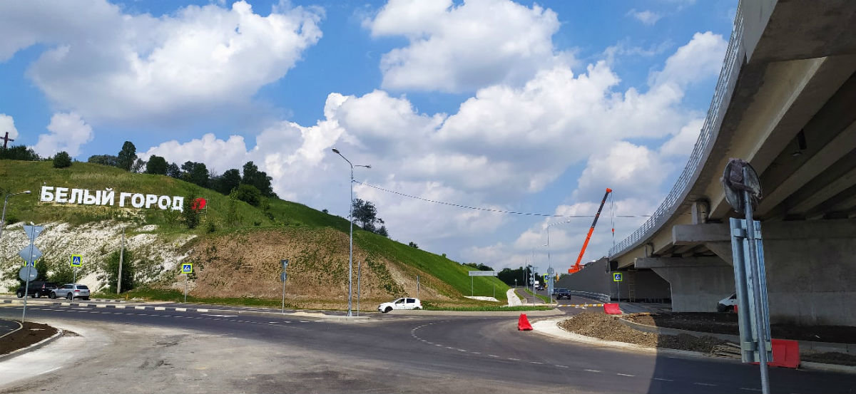 В Белгороде движение на развязке возле авторынка откроется 15 июля, фото-1