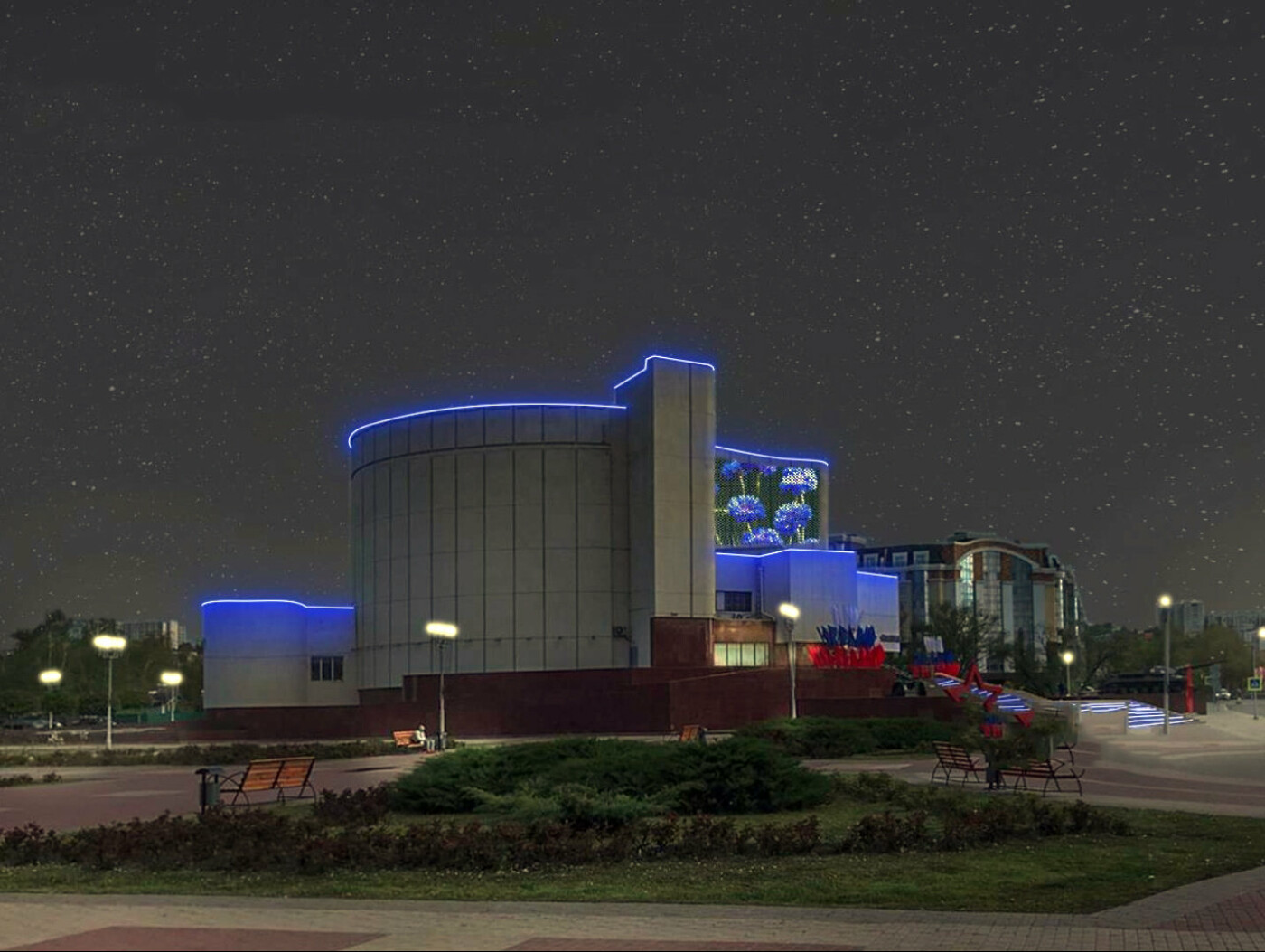 Как будет выглядеть художественная подсветка диорамы в Белгороде, фото-2