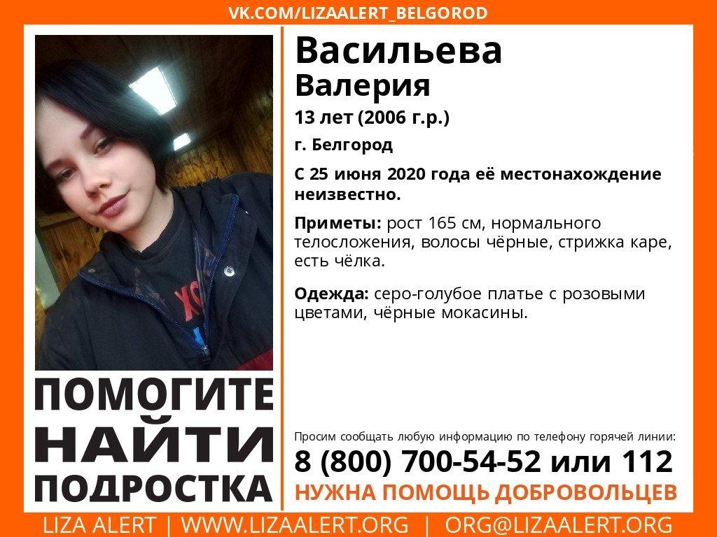 В Белгороде разыскивают 13-летнюю девочку, фото-1