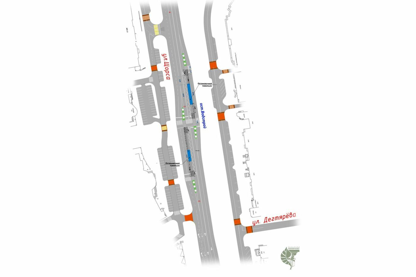 В Белгороде многополосные перекрёстки придут на смену кольцевым развязкам на Щорса , фото-1