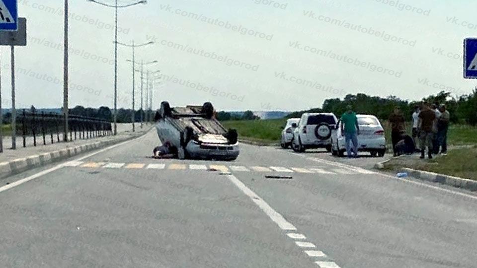 В Белгороде за час перевернулись две машины, фото-2, Фото: паблик во ВКонтакте «Авто Белгород»