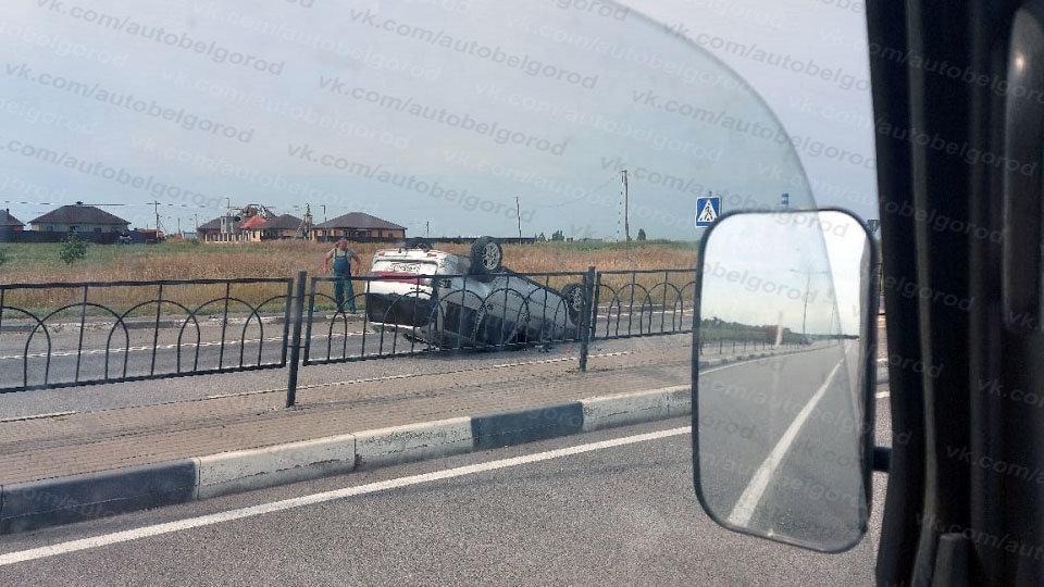 В Белгороде за час перевернулись две машины, фото-3, Фото: паблик во ВКонтакте «Авто Белгород»